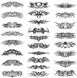 Creative Tattoo Set vector