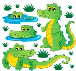 Cute Crocodiles vector