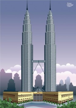 Petronas Towers vector
