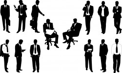Office worker silhouettes