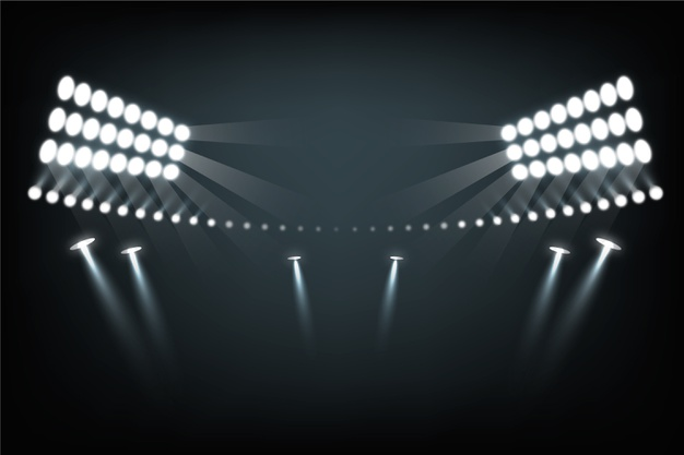 Realistic stadium light effect