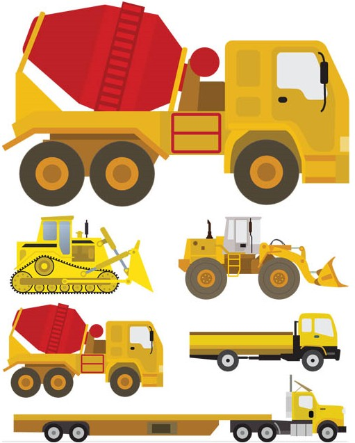 Heavy Machinery graphic vectors