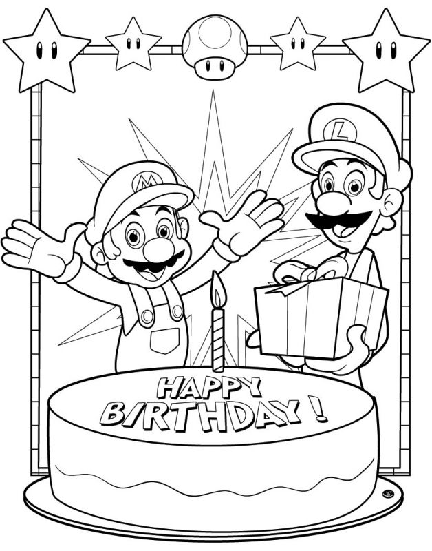 cars birthday coloring pages