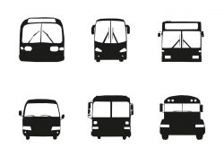 Free Vector Bus Car Silhouette Front