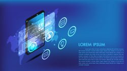 Isometric smart phone or tablet 3d interface
