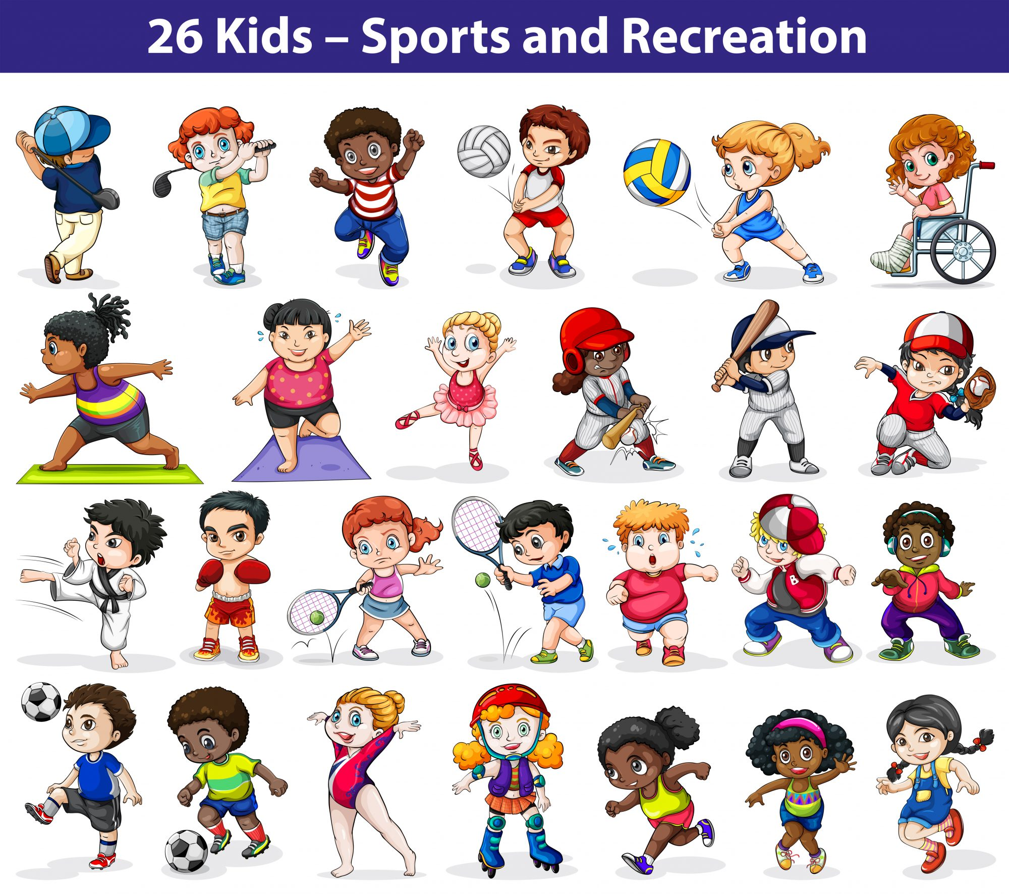 Kids engaging in different activities