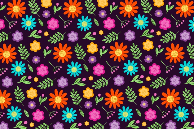 Lovely ditsy floral print background