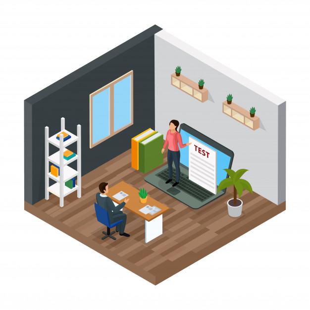 Online knowledge test isometric composition