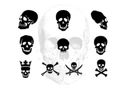 Pack Of Vector Skull Silhouettes