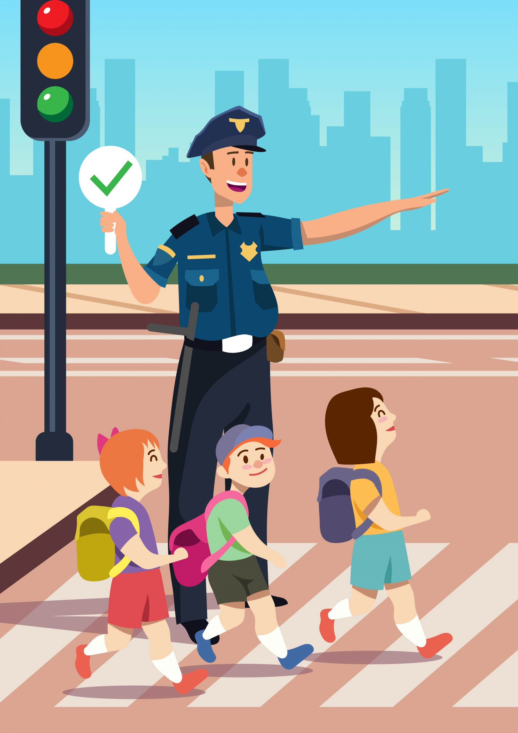 Police Officer Helping