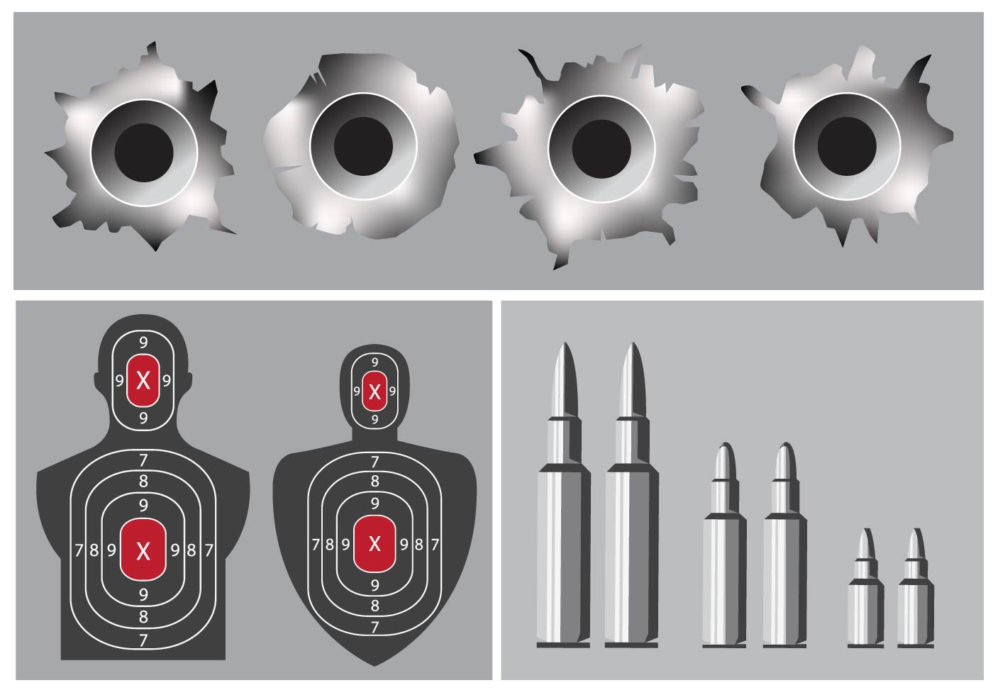 shoot camp and bullet hole