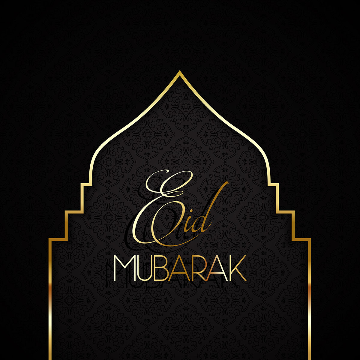 Stylish Eid mubarak background
