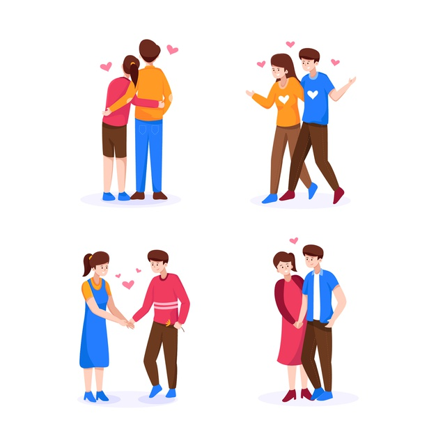 Valentine's day couple collection | Free Vector