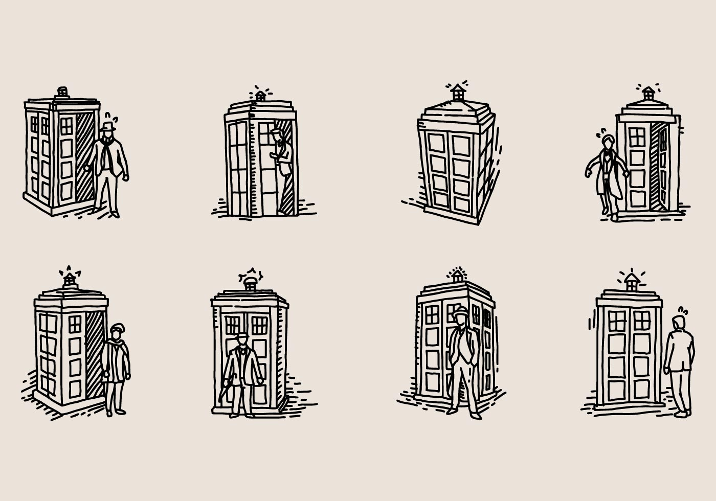 Hand Drawn Tardis Icon