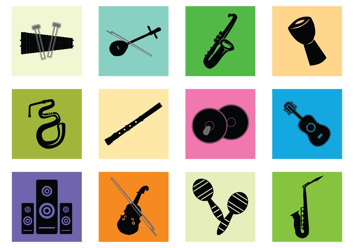 Silhouette Of Music Instrument