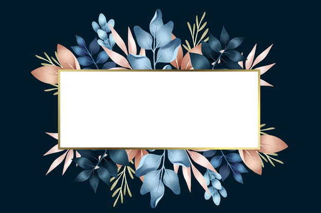 Winter flowers with rectangle banner shape