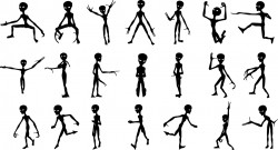 Aliens silhouettes Vector
