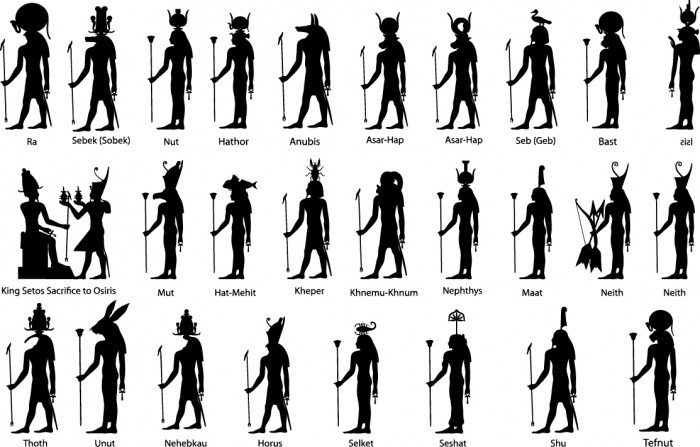 Ancient egypt silhouette Vector