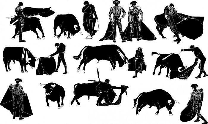 Bullfight silhouette Vector