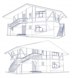 Construction line drawing Vector