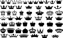 Crowns Vector Icon