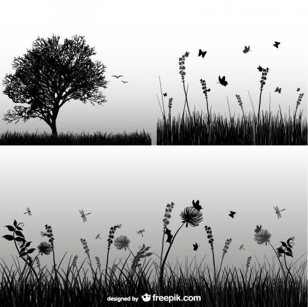Grass silhouette  Vector   Free Download