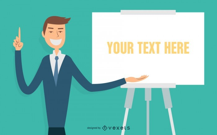 Illustrated businessman presentation