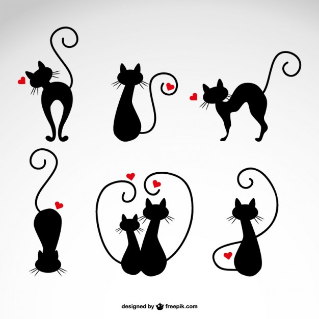 In love cats vector illustrations   Vector | Free Download