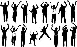 Party people silhouette Vector