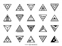 Triangular logo set