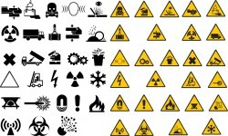 Warning road signs Vector