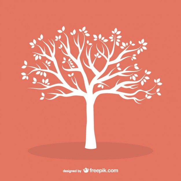 White tree with leaves  Vector   Free Download